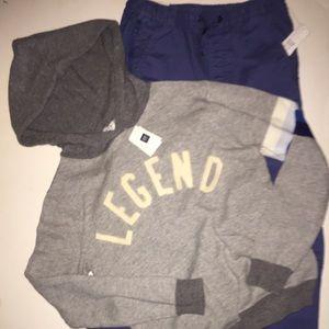 NWT Gap Kids LEGEND OUTFIT Sweater Jogger Set XXL